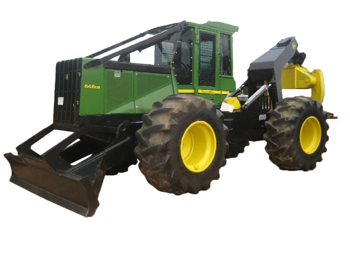 John Deere 648H Skidder on Floater Tires