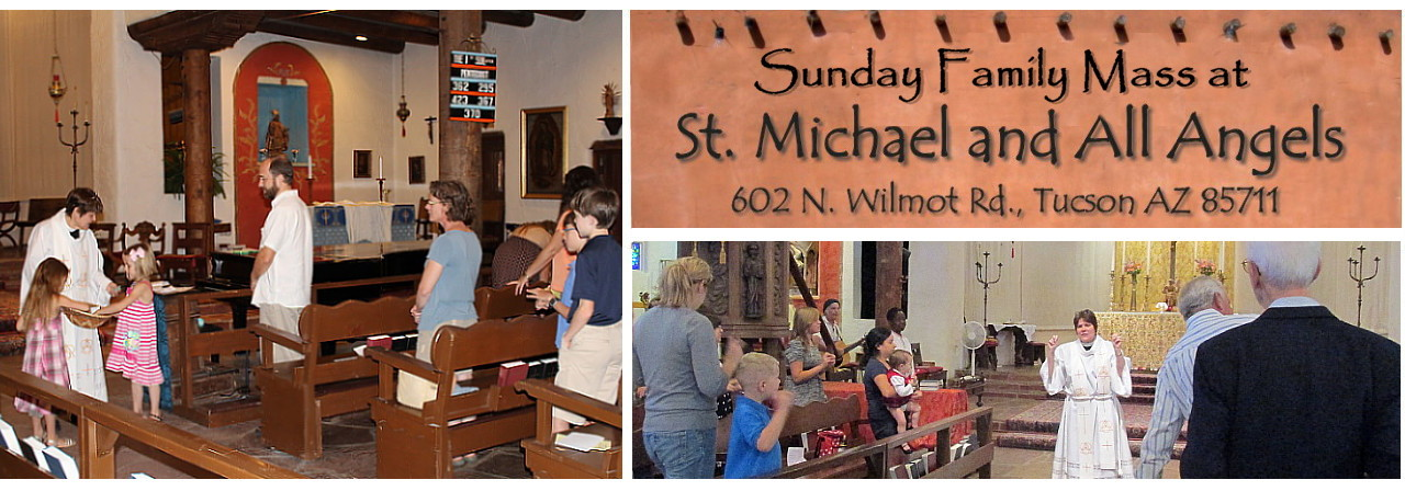 Worship together at the Family Mass – Sundays at 9 AM