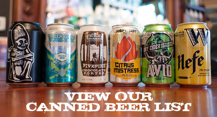 View our Canned Beer List