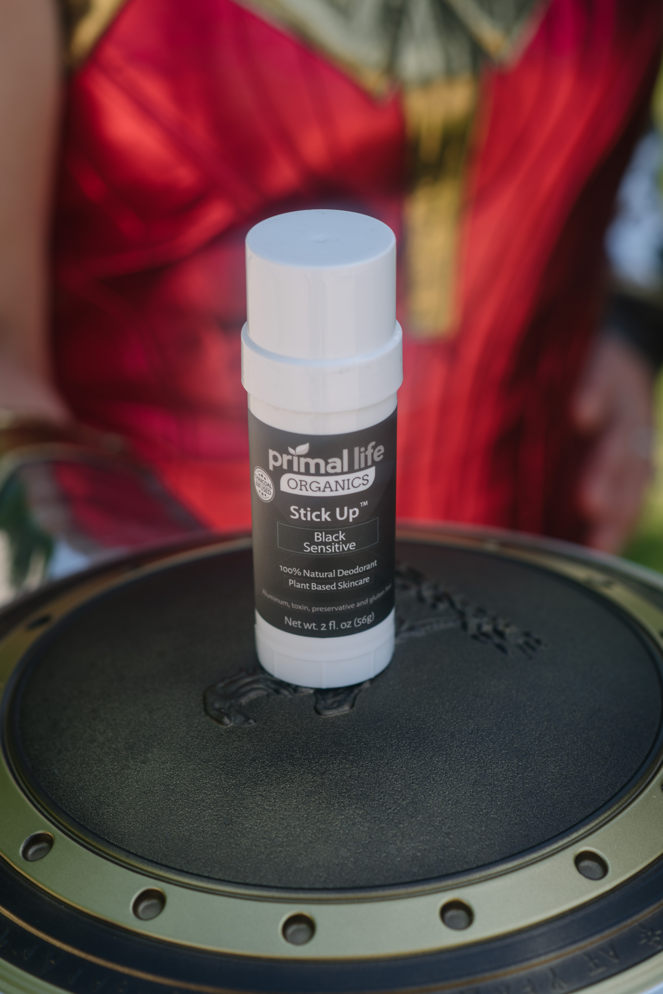 Stick Up Natural Deodorant from Primal Life Organics with Trina as Wonder Woman