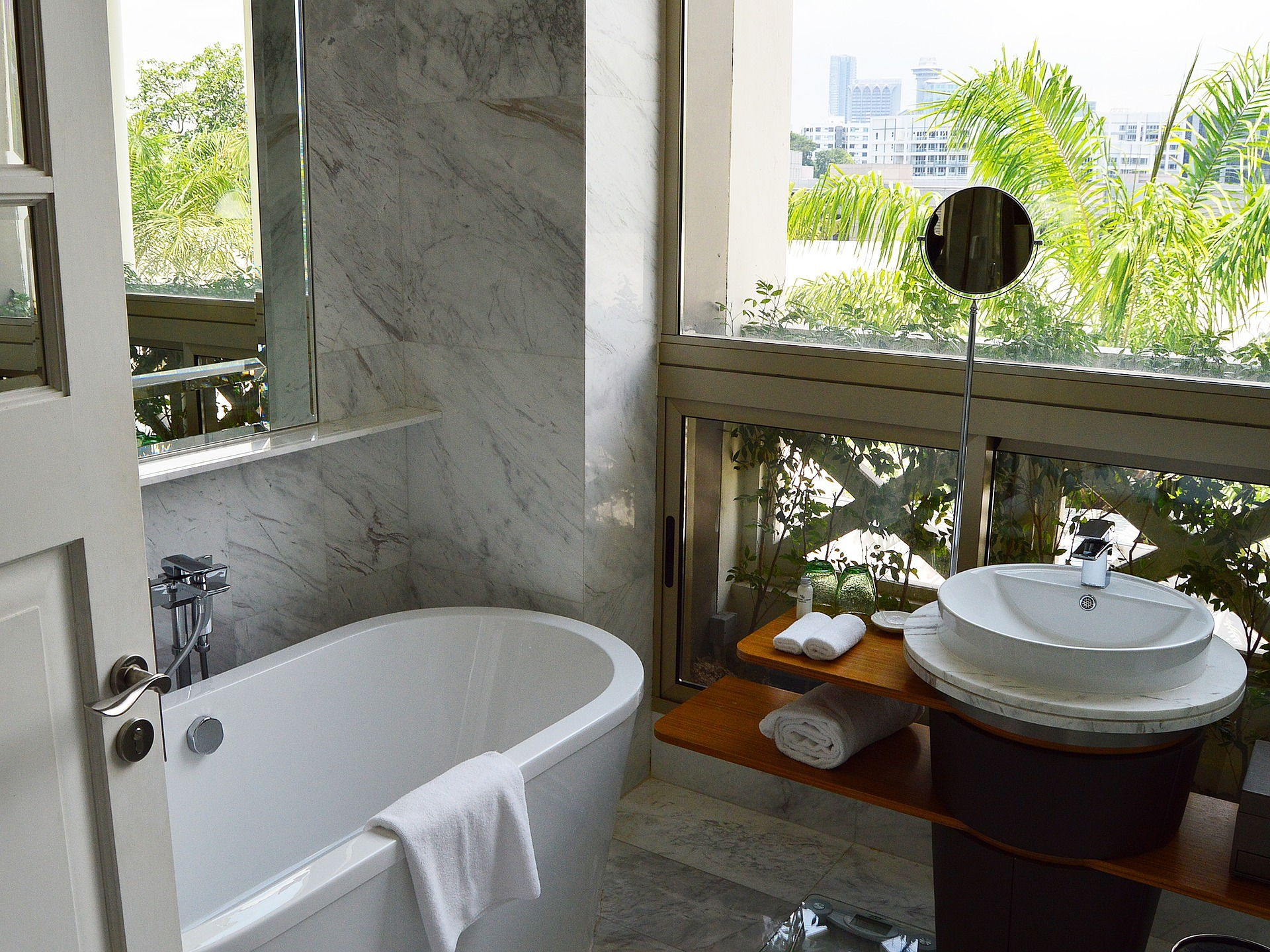 view of a hotel bathroom