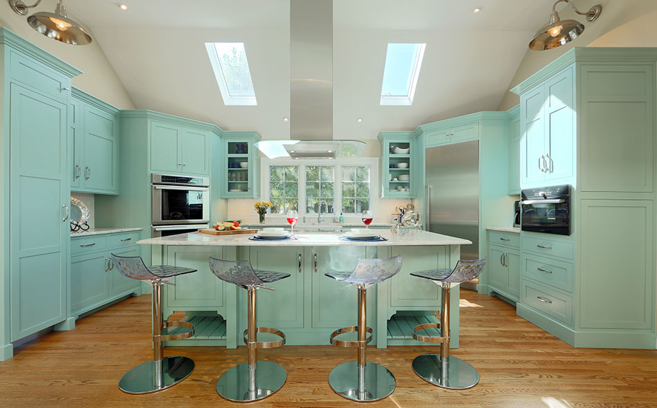 HarwichPort Blue Kitchen and Island