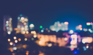 colored blurry city lights