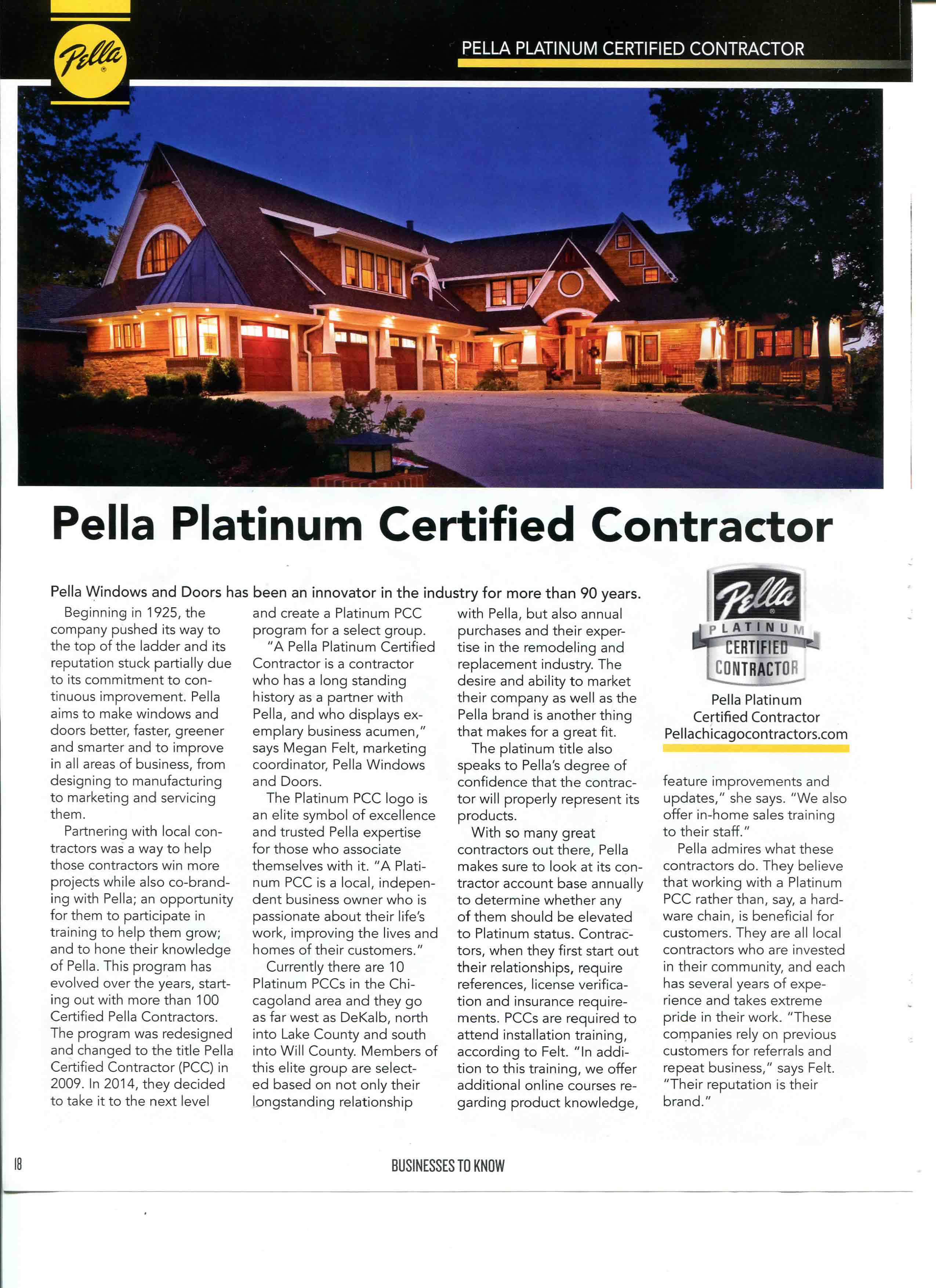Pella Windows Certified Contractor