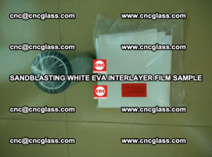 Sandblasting White EVA INTERLAYER FILM sample, EVAVISION (64)