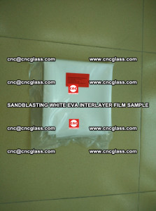Sandblasting White EVA INTERLAYER FILM sample, EVAVISION (69)