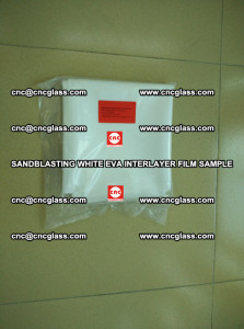 Sandblasting White EVA INTERLAYER FILM sample, EVAVISION (71)