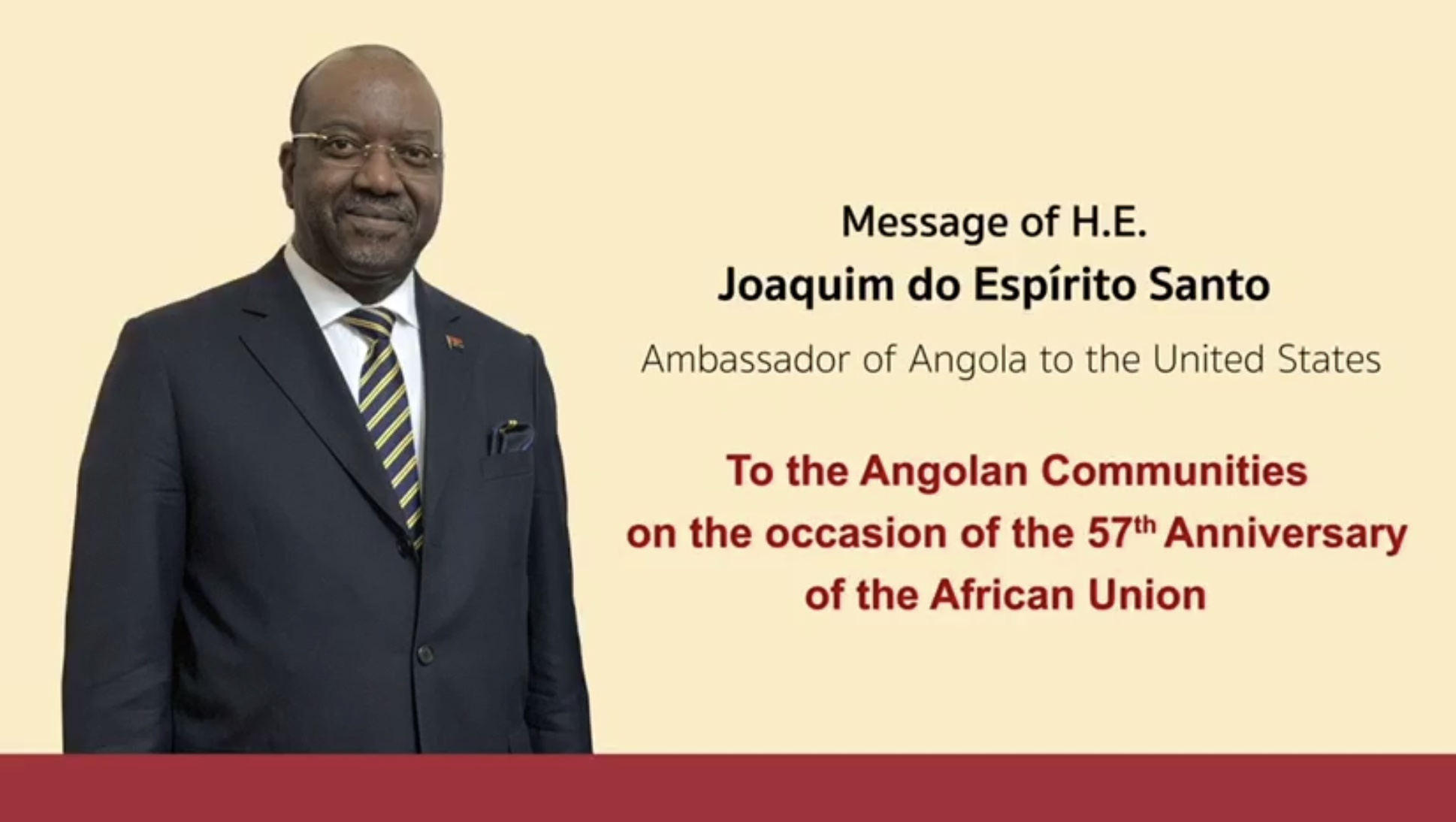 JOAQUIM DO ESPIRITO SANTO, AMBASSADOR OF ANGOLA IN THE US