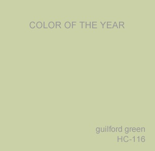 2015 Color Trends ~ Benjamin Moore Color of the Year Guilford Green HC-116