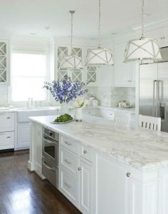 Benjamin Moore Dove White Kitchen