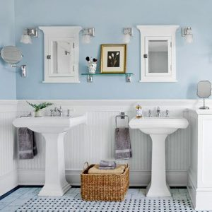 Glacier Blue Bathroom Color