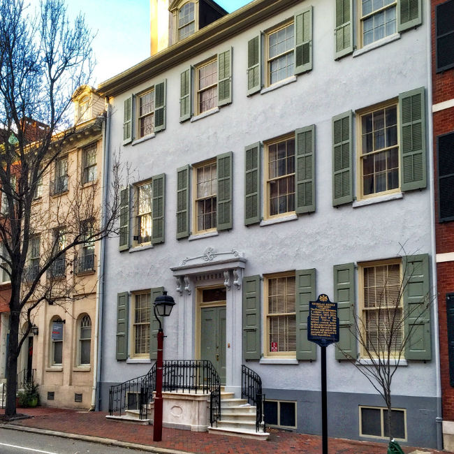 Society Hill Exterior After Shutter Repair and Painting