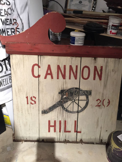 Restoration of the Cannon Hill Sign Before Pic