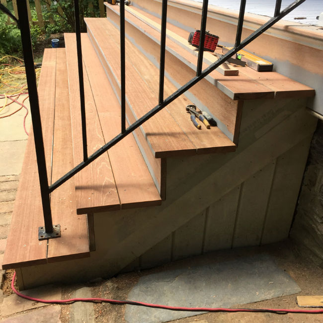 Porch Stair Installation by John Neill Painting
