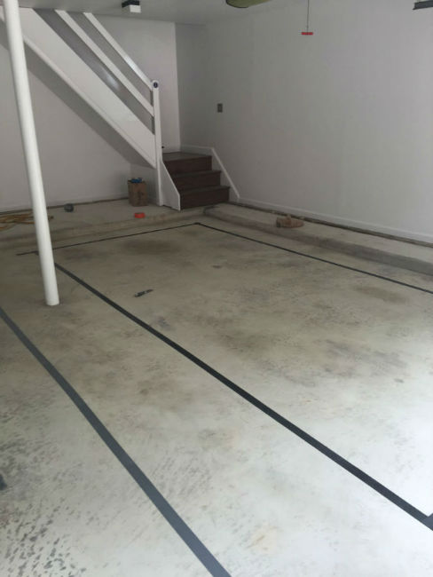 Garage Floor in Wayne, PA Before Epoxy Coating