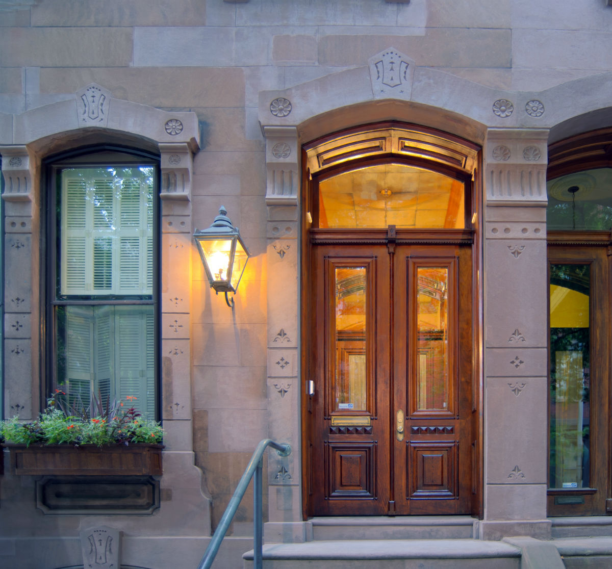 Stunning stained front doors by John Niell Painting of Philadelphia