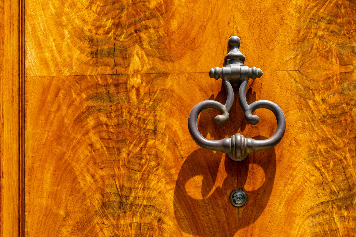 Door staning work in Philadelphia by John Neill Painting.