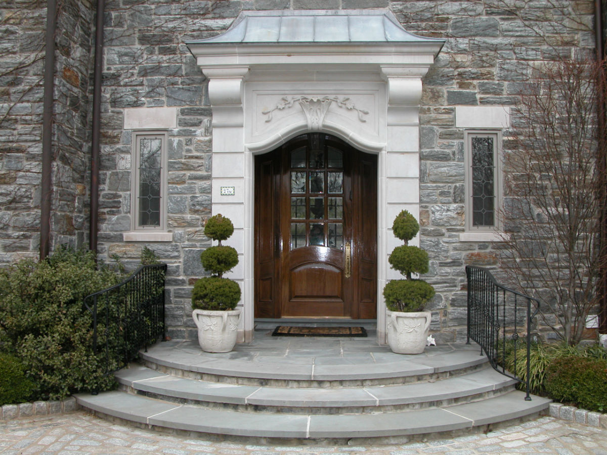 Beautiful stained entry way