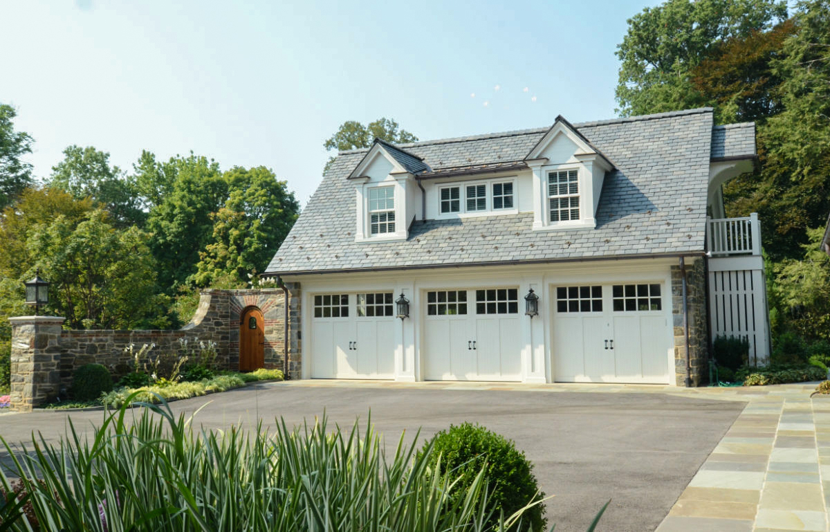 Beautifully painted three car garage and loft by John Neill Painting & Decorating.