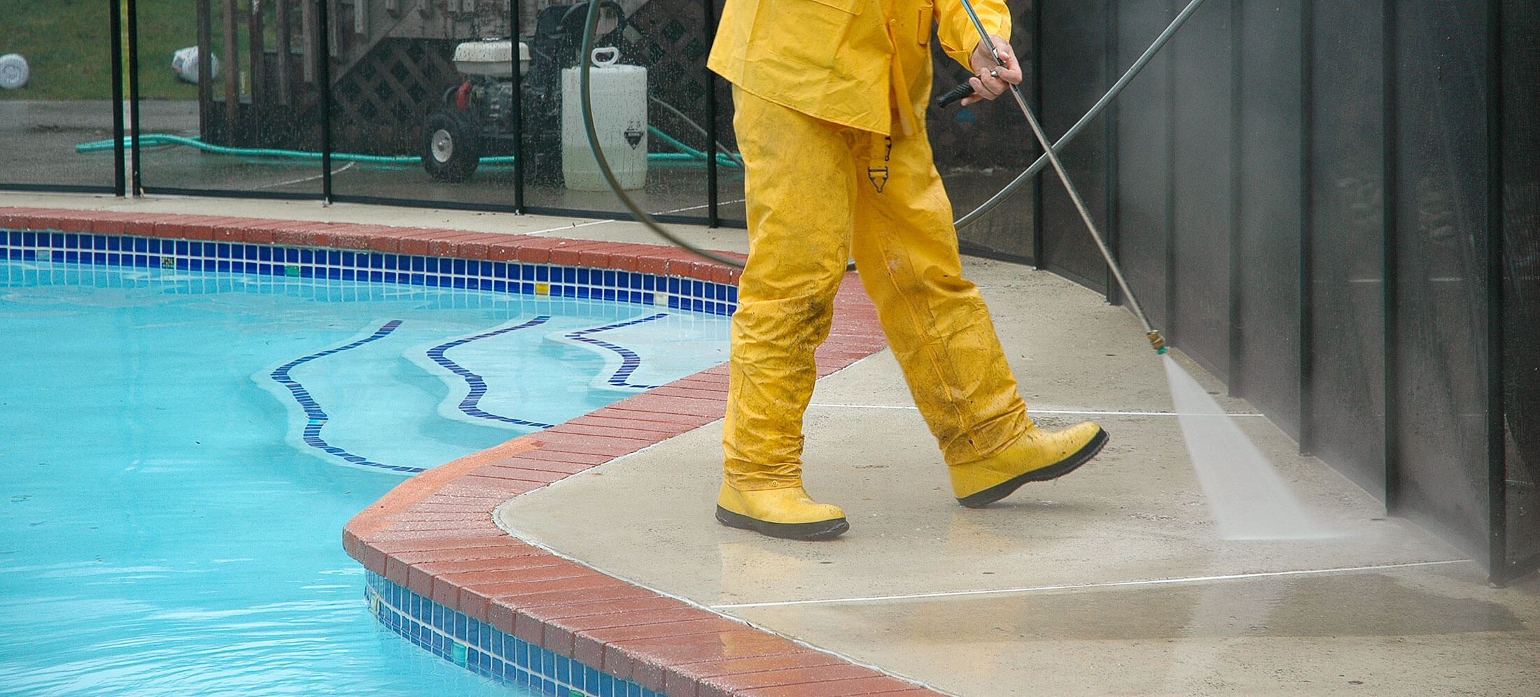 Spring Cleaning ~ Pool deck pressure cleaning services in Philadelphia and the surrounding area at John Neill Painting & Decorating