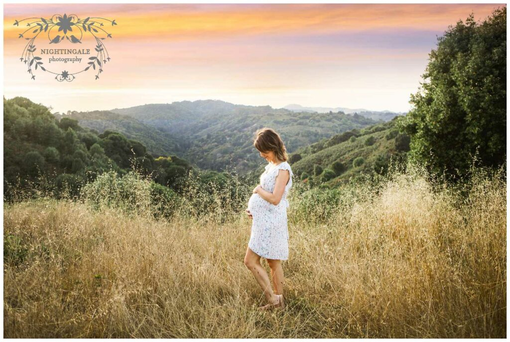 Sunset maternity session  sin Oakland  by Nightingale Photography