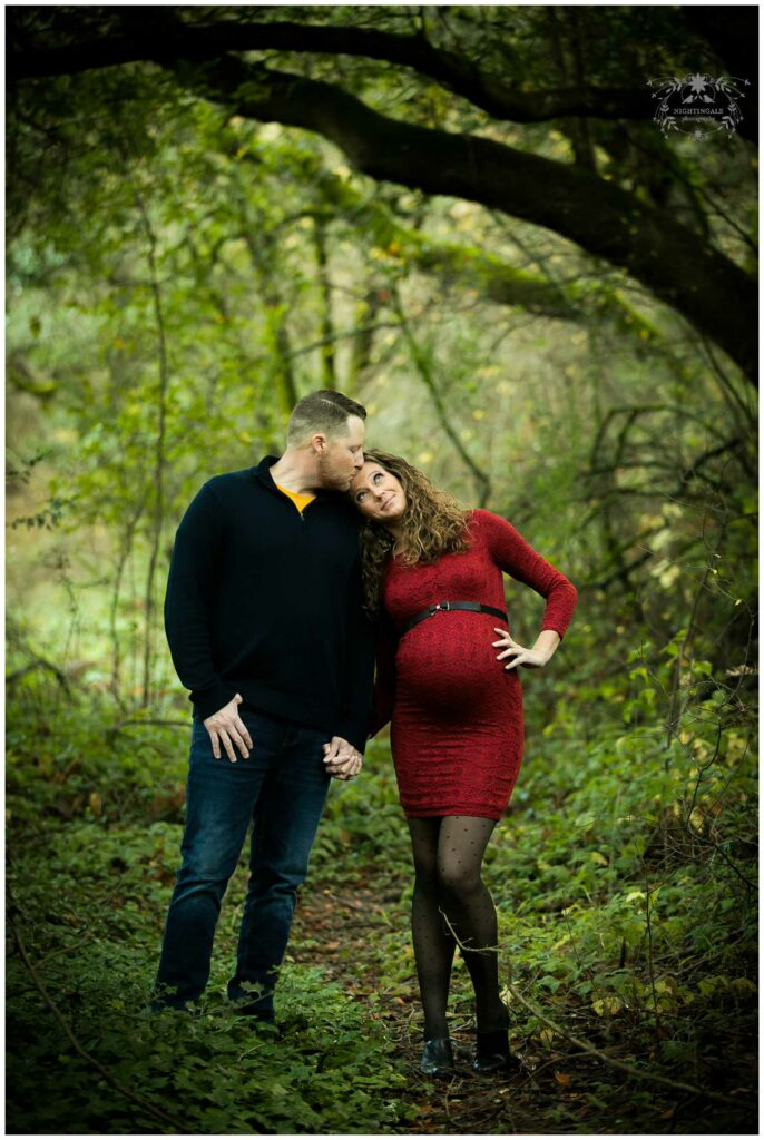 Natural and candid maternity portraits at Lake Anza in Berkeley, in the East Bay, by Nightingale Photography