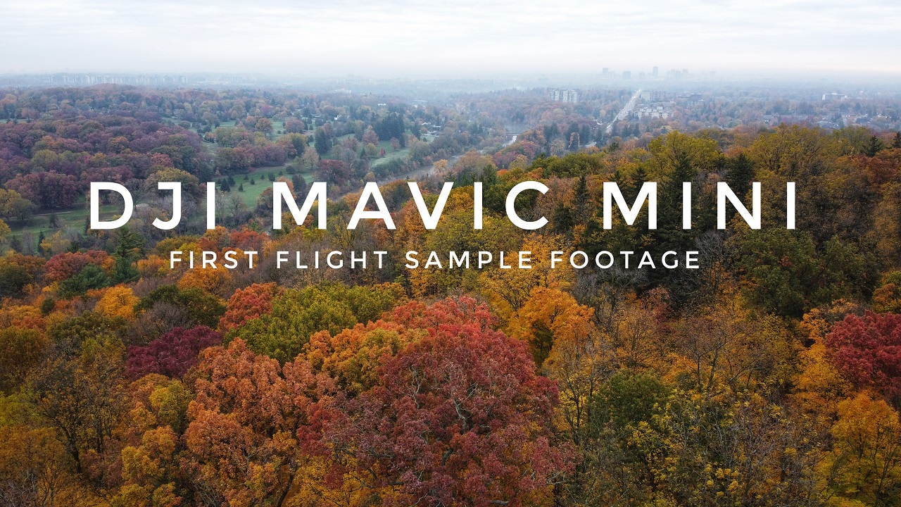 Some unedited sample footage of my first flight with the DJI Mavic Mini.