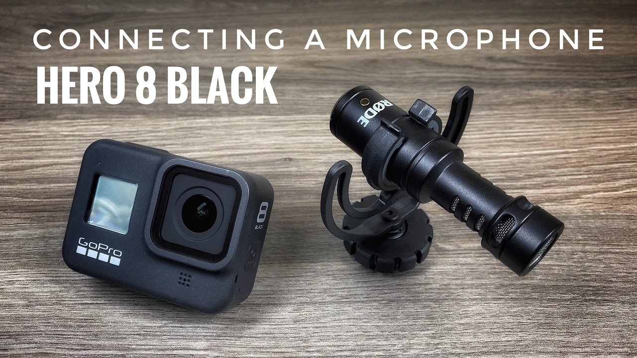 How to use an external microphone with the GoPro Hero 8 Black.