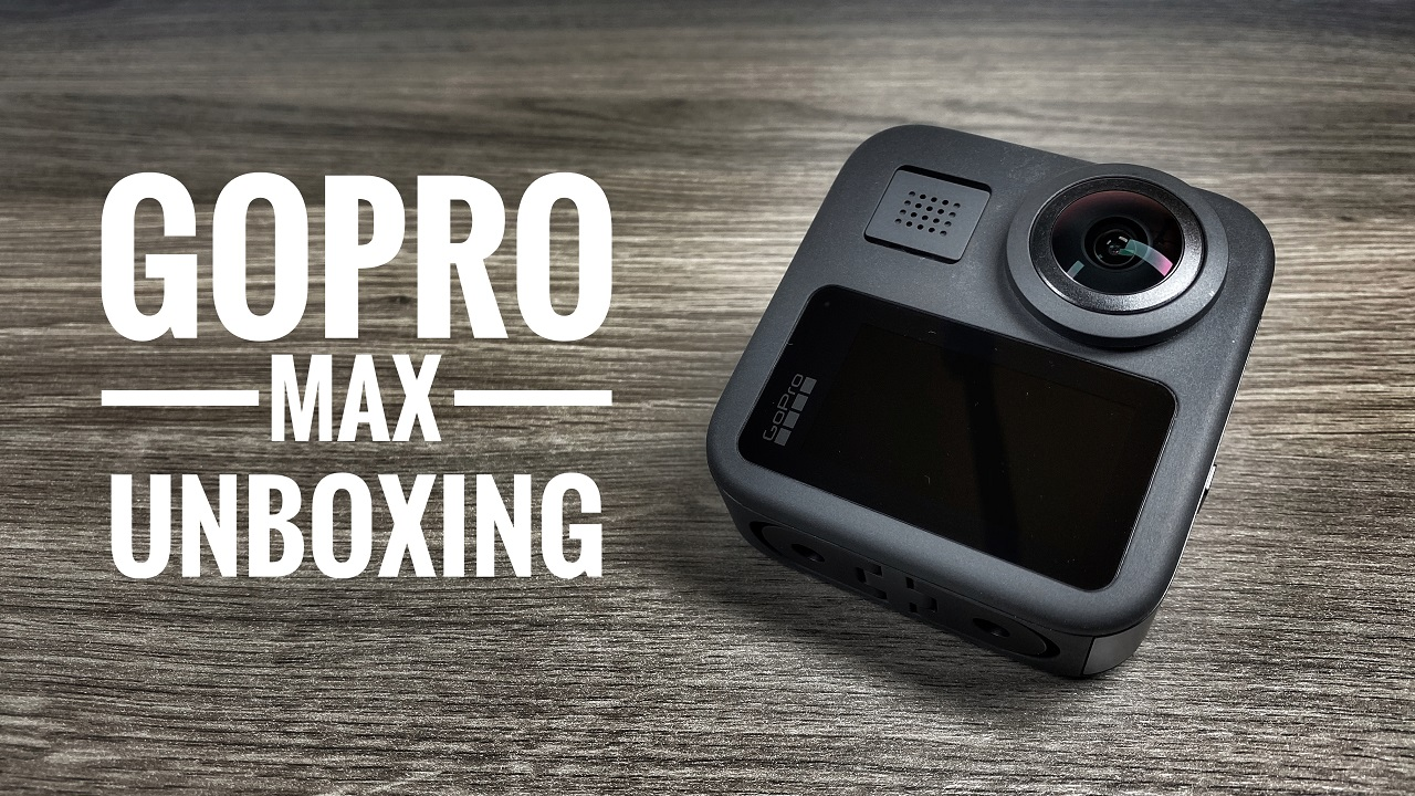 GoPro Max unboxing and setup.