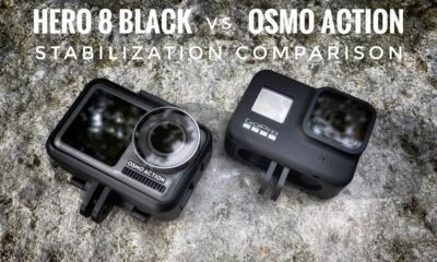Stabilization comparison of Hero 8 Black version Osmo Action.