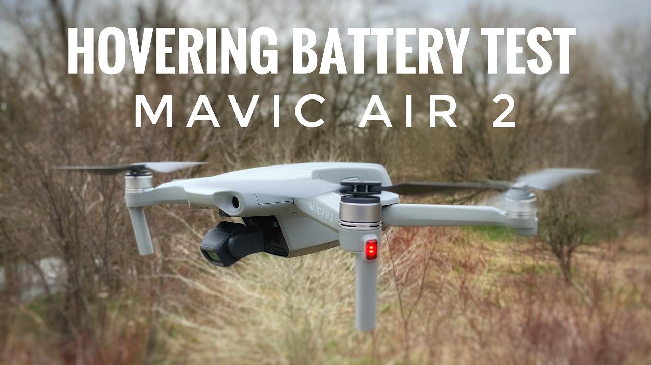 DJI Mavic Air 2 hovering battery test.