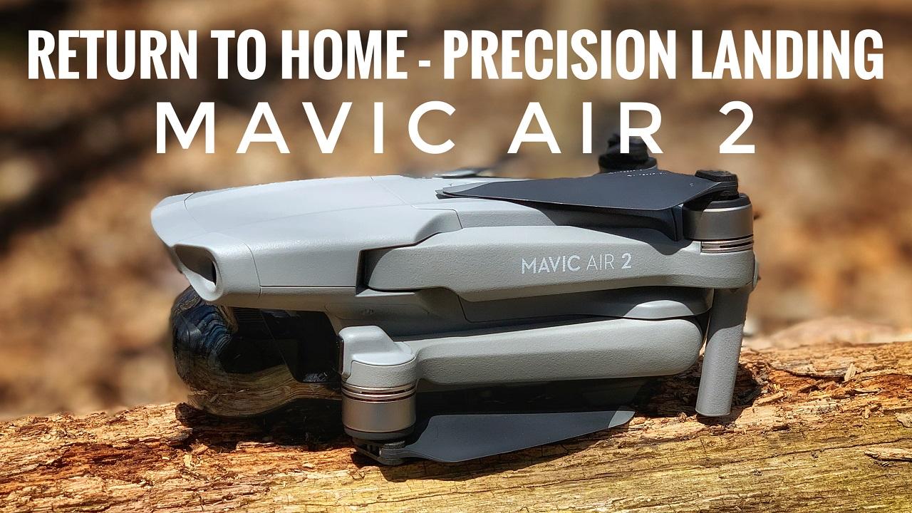 DJI Mavic Air 2 return to home and precision landing accuracy test.
