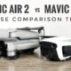 DJI Mavic Air 2 noise comparison versus original Mavic Air.
