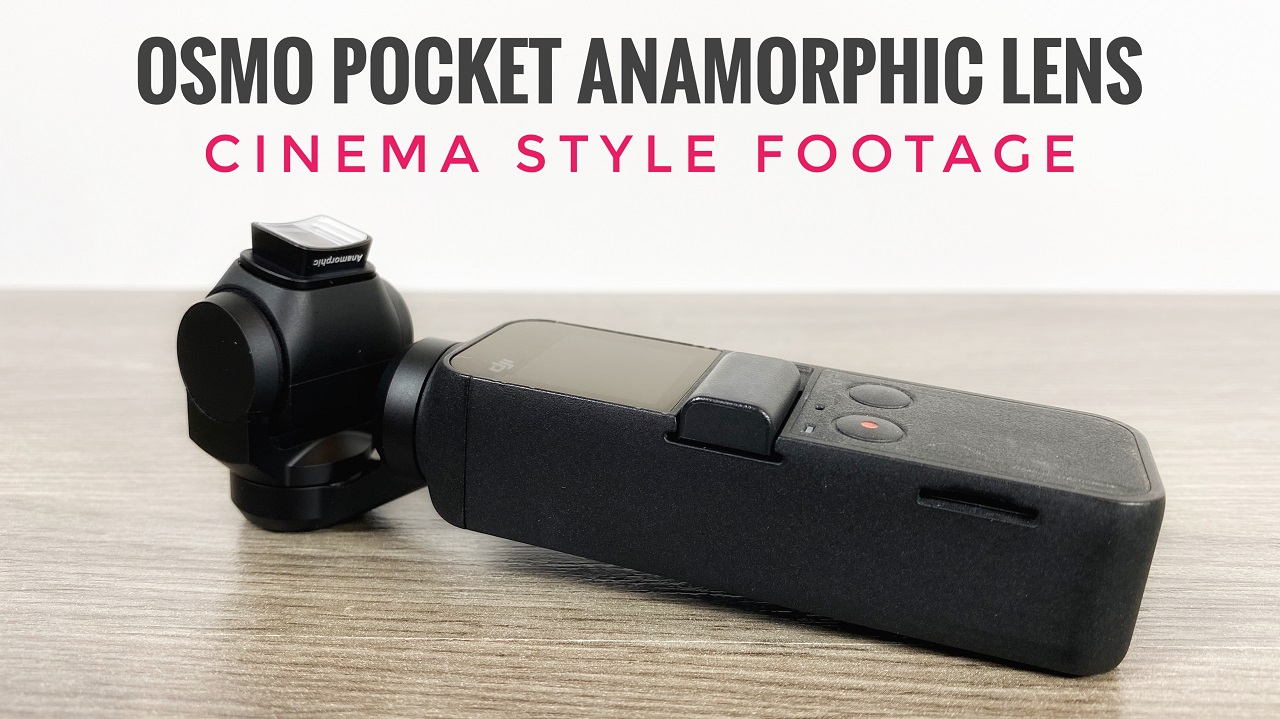 Anamorphic lens for the DJI Osmo Pocket.