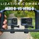 Stabilization comparison of the GoPro Hero 8 Black versus Hero 9 Black.