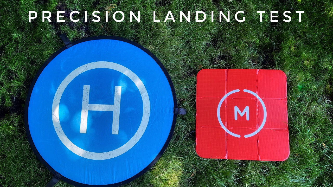 Testing different landing pads with DJI precision landing.