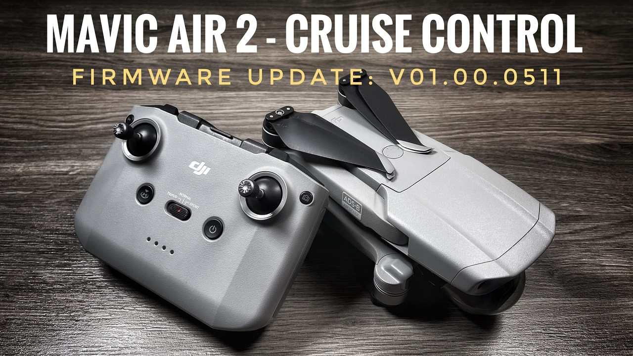 Testing out the new Cruise Control feature on the Mavic Air 2. Firmware Update v.01.00.0511