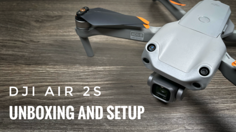 DJI Air 2S unboxing and setup.