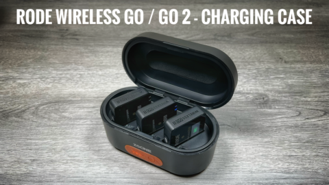 Rode wireless go and wireless go 2 charging case.
