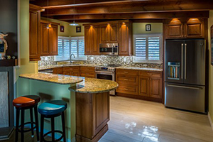 Traditional Cherry wood kitchen