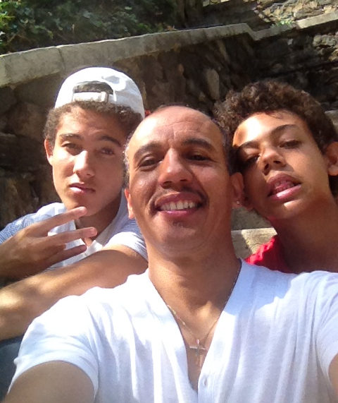 Dr Lorenzo with sons