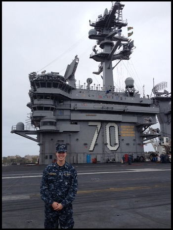 Hoerner on USS Carl Vinson