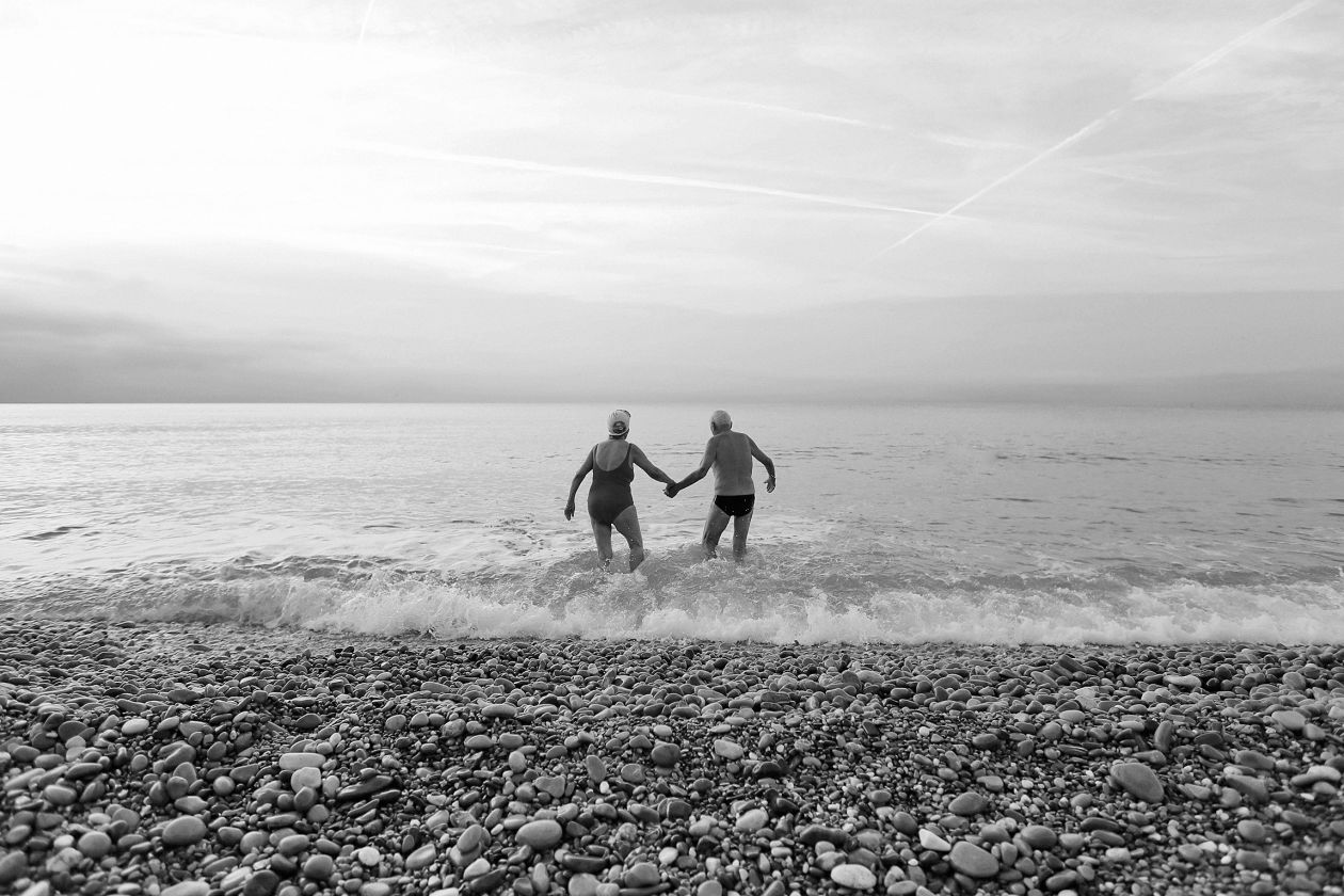 retirees swimming
