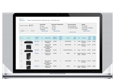 Xtreme Power UPS Selector Tool