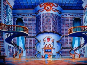 beauty-and-the-beast-library