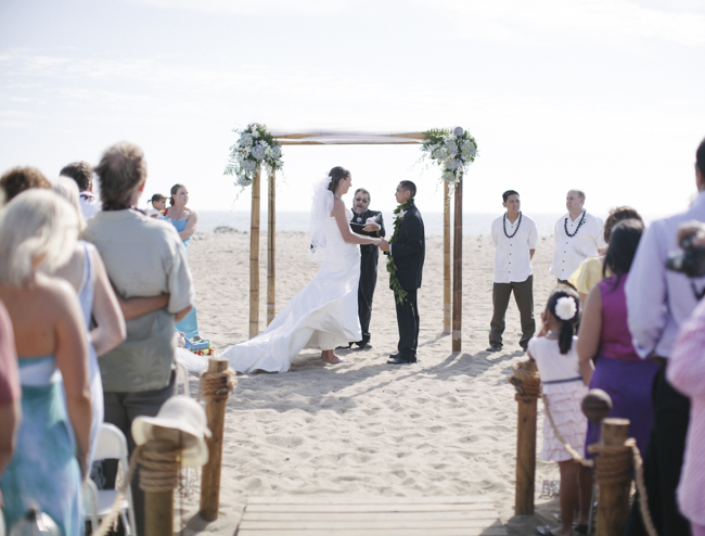 Ventura beach wedding day