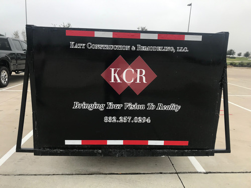 Vehicle Graphics - Back of Trailer