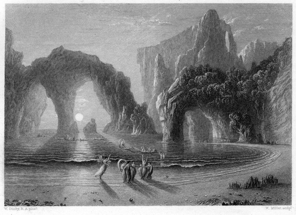 (9) Fairies_on_the_Seashore_engraving_by_William_Miller_after_F_Danby