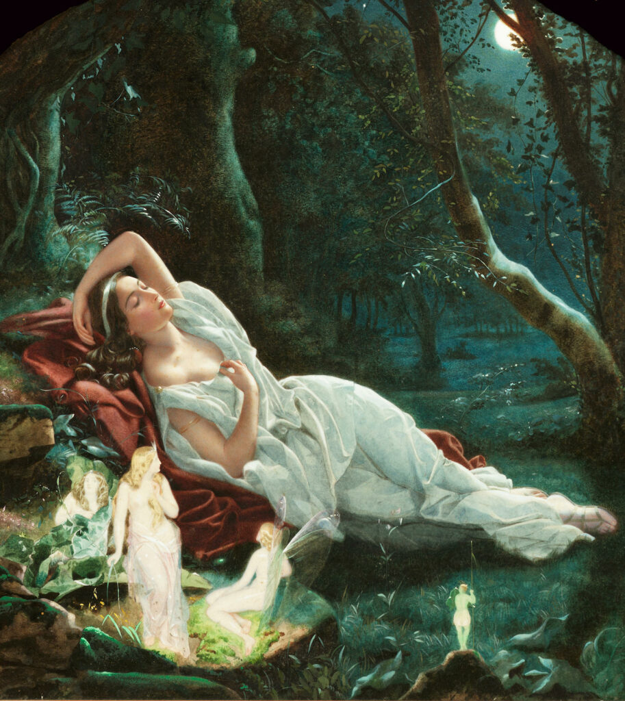 John_Simmons_-_Titania_sleeping_in_the_moonlight_protected_by_her_fairies