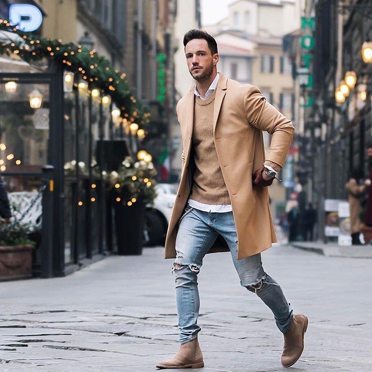 Camel Coat - Men's 2018 Fashion